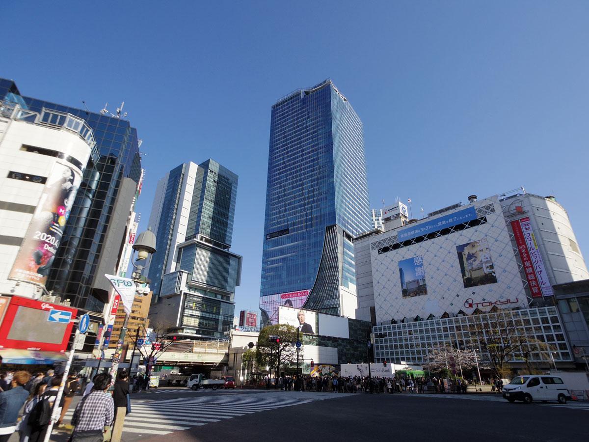 大型商業施設や百貨店が出店している渋谷駅周辺