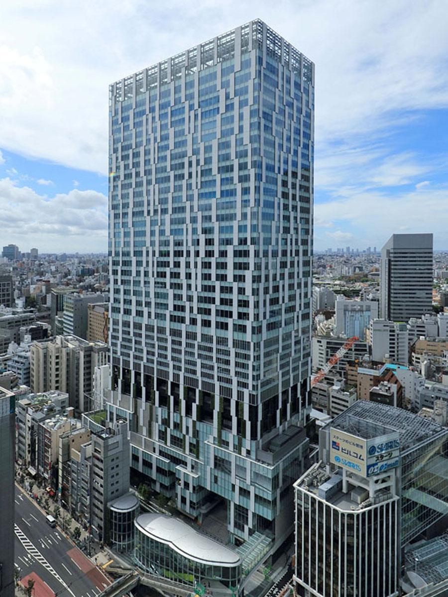 「渋谷ストリームエクセルホテル東急」が入る渋谷ストリームの外観(画像提供=渋谷ストリーム)