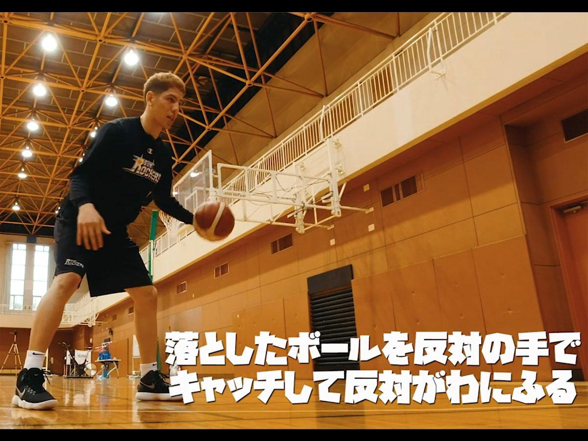 プロスポーツ選手がトレーニングや練習方法などを教える(写真はサンロッカーズ渋谷・ベンドラメ礼生選手)