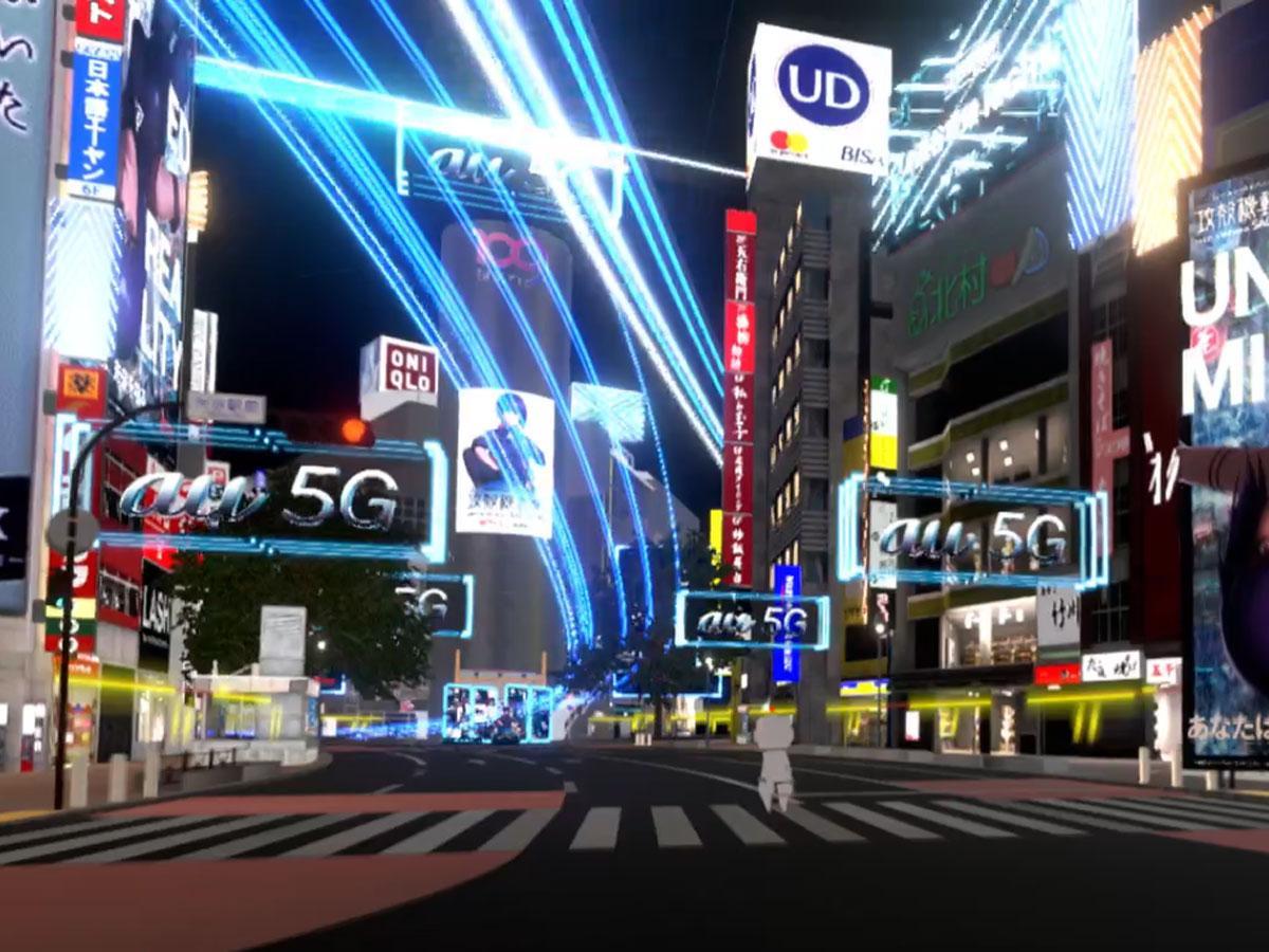 渋谷駅前スクランブル交差点やSHIBUYA109などを再現した「バーチャル渋谷」