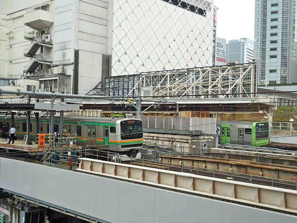 山手線と並列化しハチ公改札と直結した埼京線・湘南新宿ラインの新ホーム