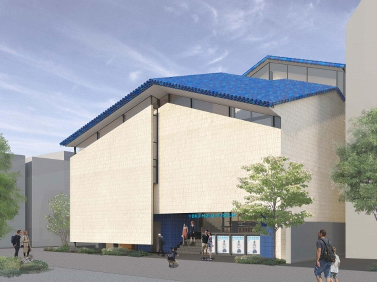 住宅地に位置する「ヨックモックミュージアム」の外観イメージ