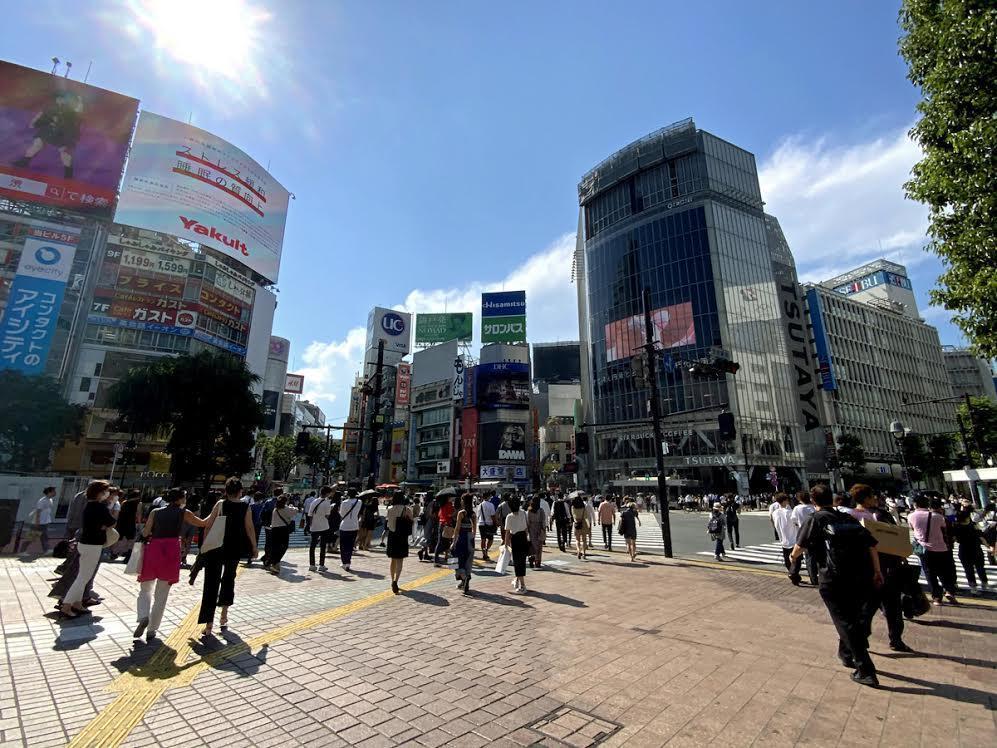 人手が戻りつつある渋谷駅前
