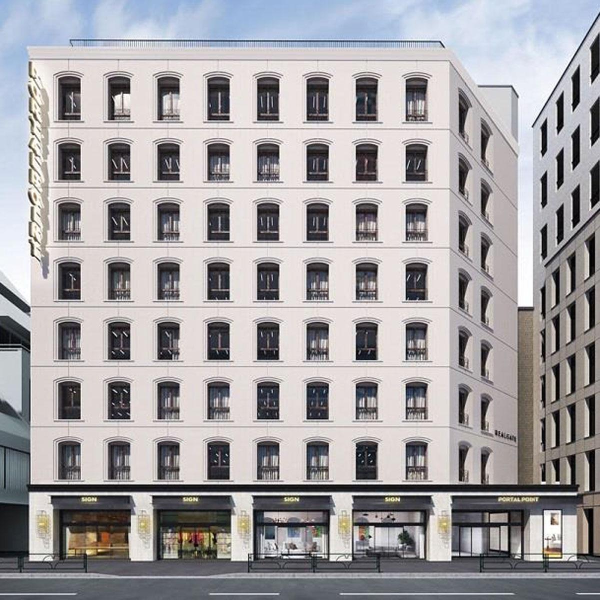 築35年のビルをリノベーションする「PORTAL POINT HARAJUKU」の外観イメージ