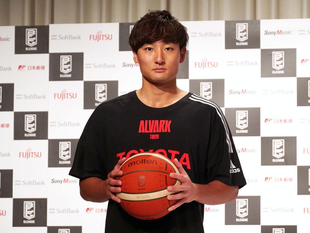 「早くファンの皆さんの前でプレーしたいという気持ちが強い」と話したアルバルク東京・田中大貴選手