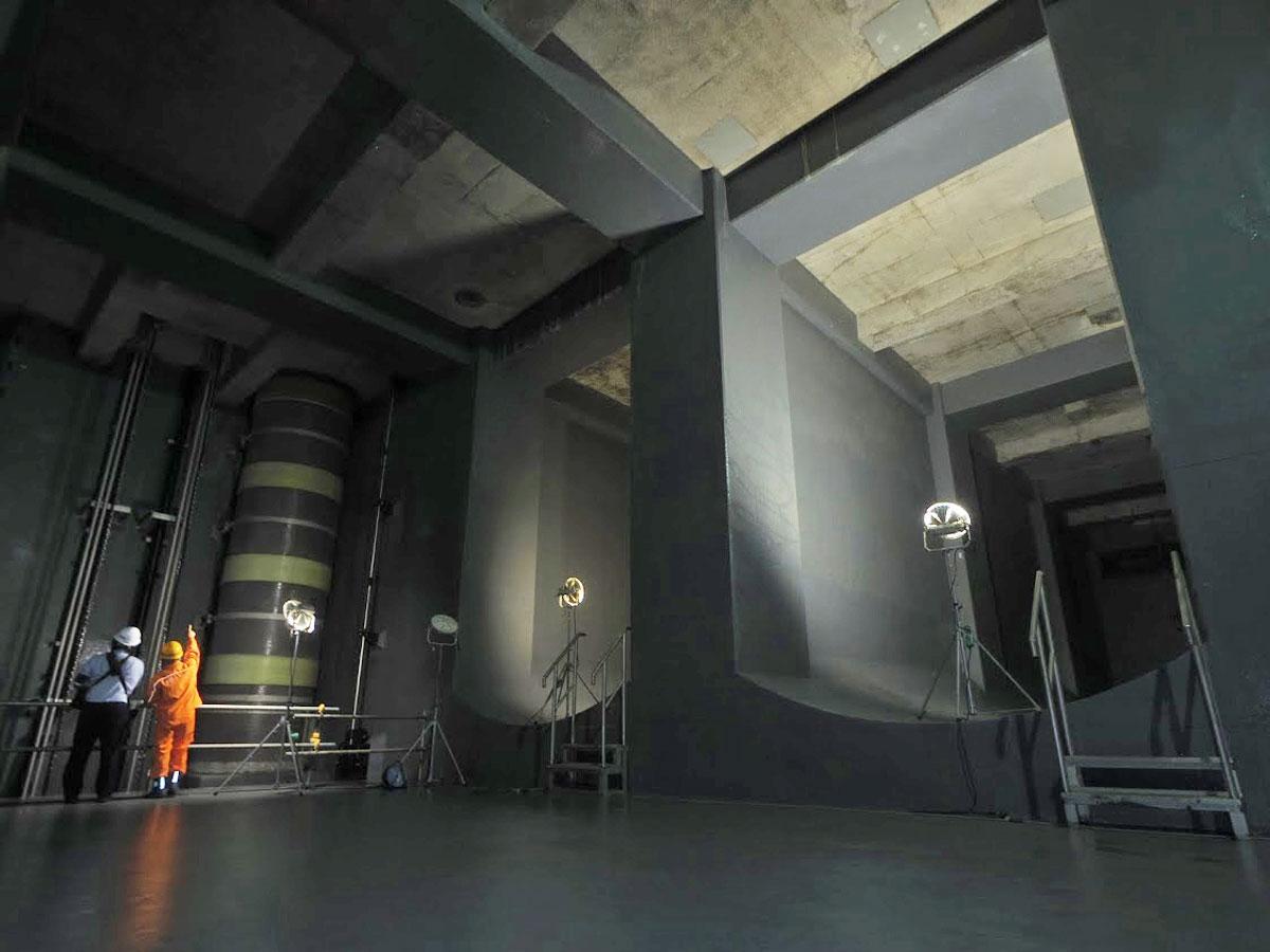 最大4000トンを貯留できる施設内