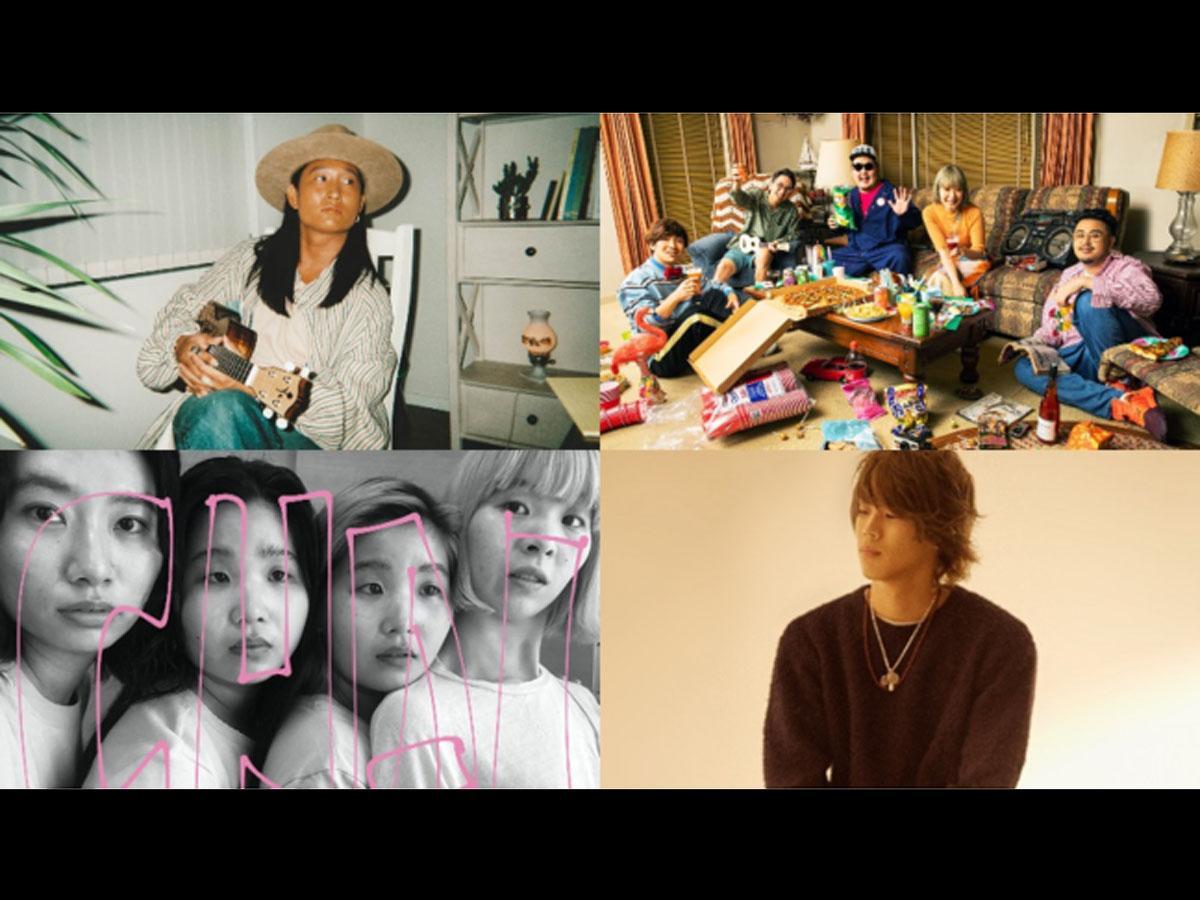 「YOU MAKE SHIBUYA MUSIC FESTIVA」に出演予定の(左上から時計回りで)平井大さん、フレンズ、ReNさん、CHAI