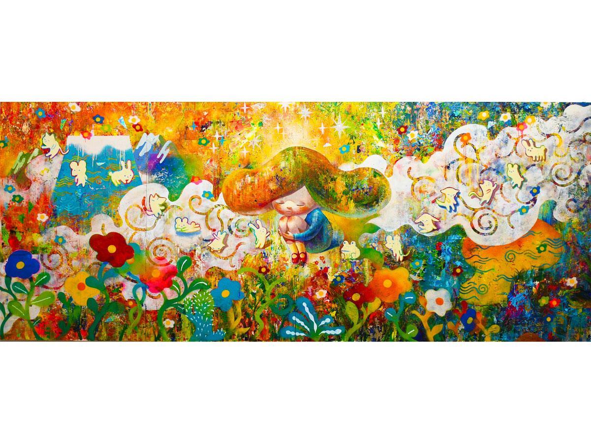 出展作家の1人である画家・志田菜穂美さんの作品