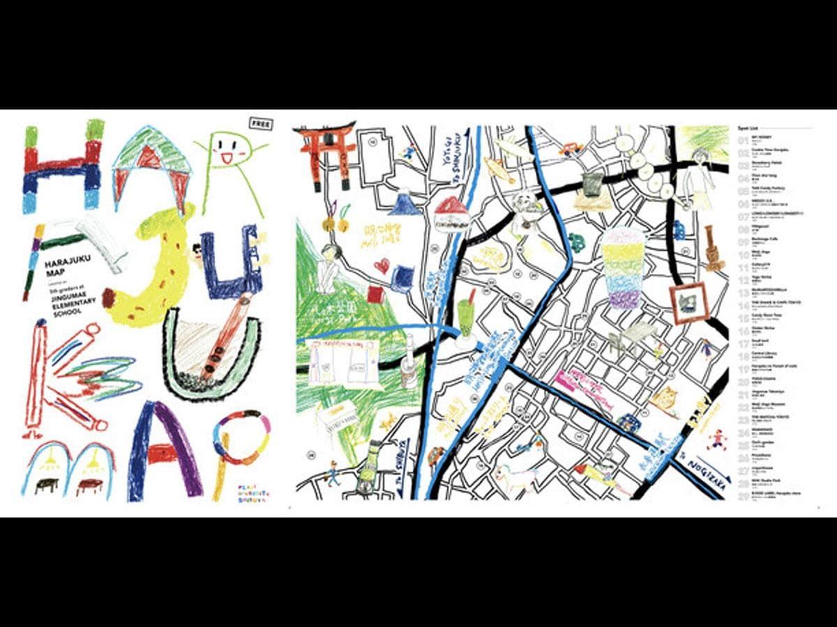 小学生が制作した観光ガイド「HARAJUKU MAP」