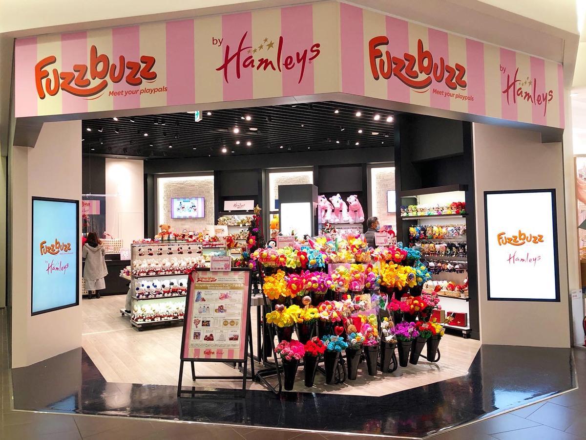 東急プラザ表参道原宿に限定オープンした「Fuzzbuzz by Hamleys」