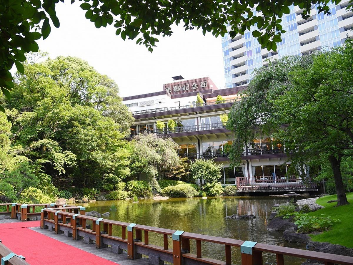 日本庭園を擁する東郷記念館