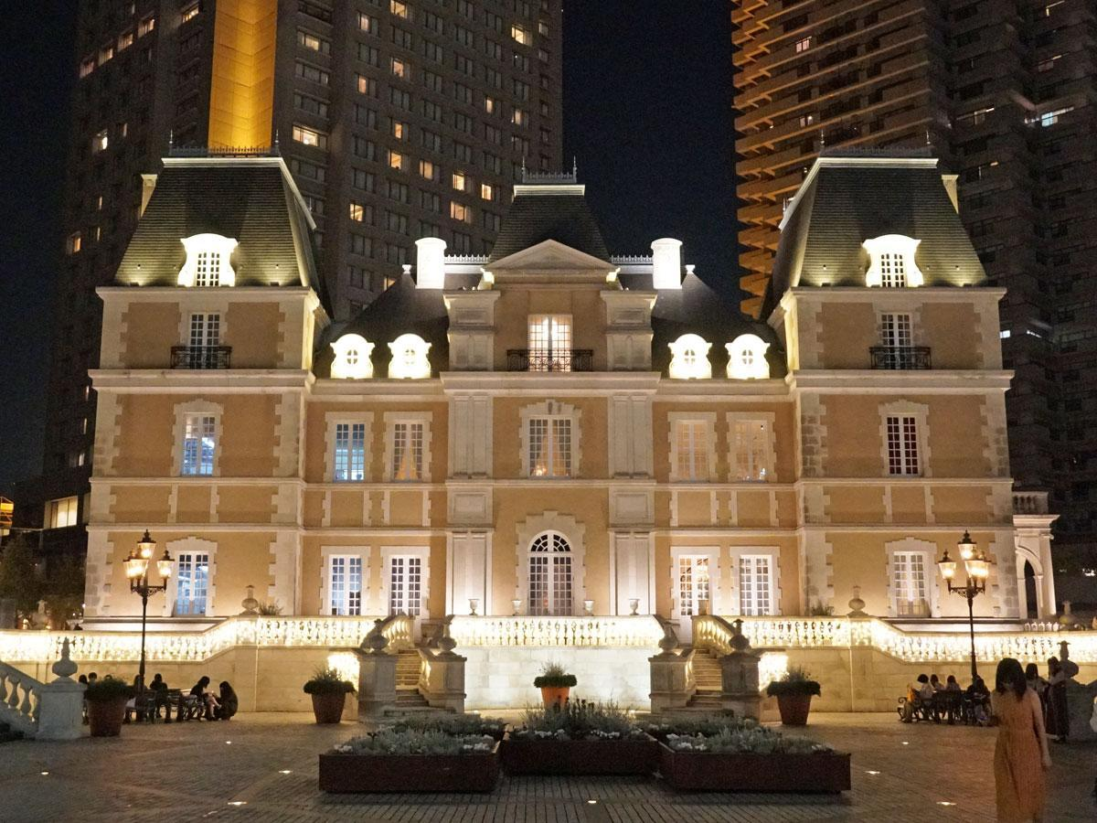 恵比寿ガーデンプレイス内の「シャトーレストラン ジョエル・ロブション」外観
