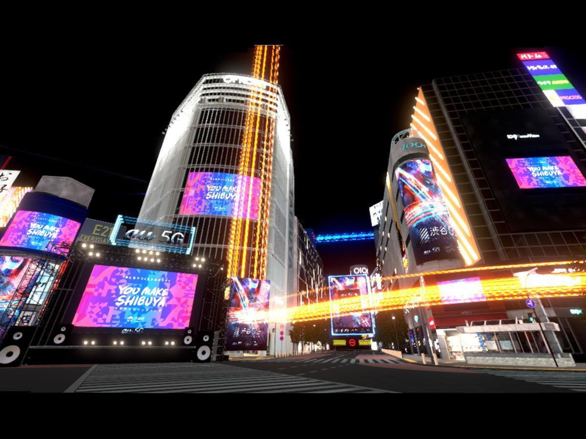 ライブは「バーチャル渋谷」(写真)で配信する。