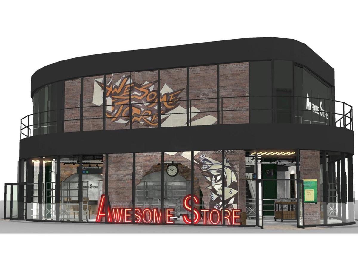 2フロアで展開する「AWESOME STORE TOKYO」の外観イメージ