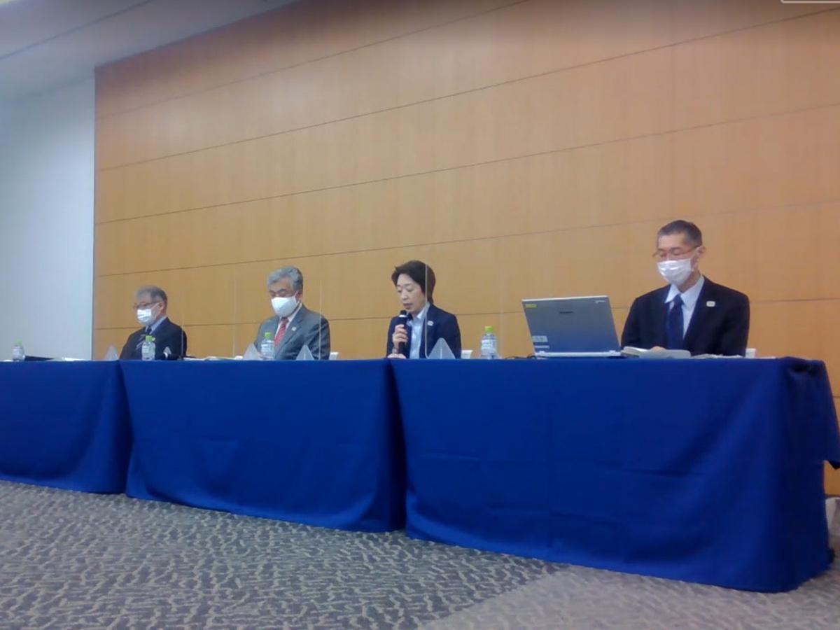 聖火リレー実施時の新型コロナウイルス感染症対策を発表した「Tokyo 2020ライブ配信」より