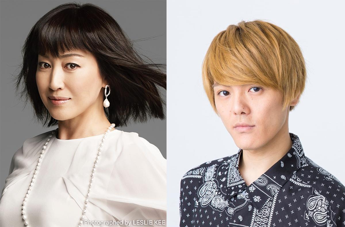 「まんが日本昔ばなし」の物語を朗読予定の(左から)高島礼子さんと室龍太さん