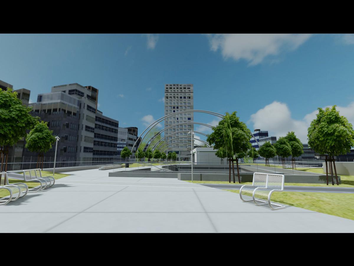 開発中のバーチャル「渋谷区立宮下公園」