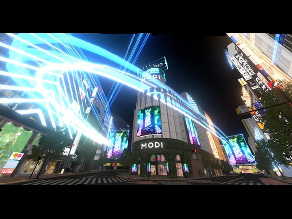 「バーチャル渋谷」内に新設される渋谷モディ前エリア