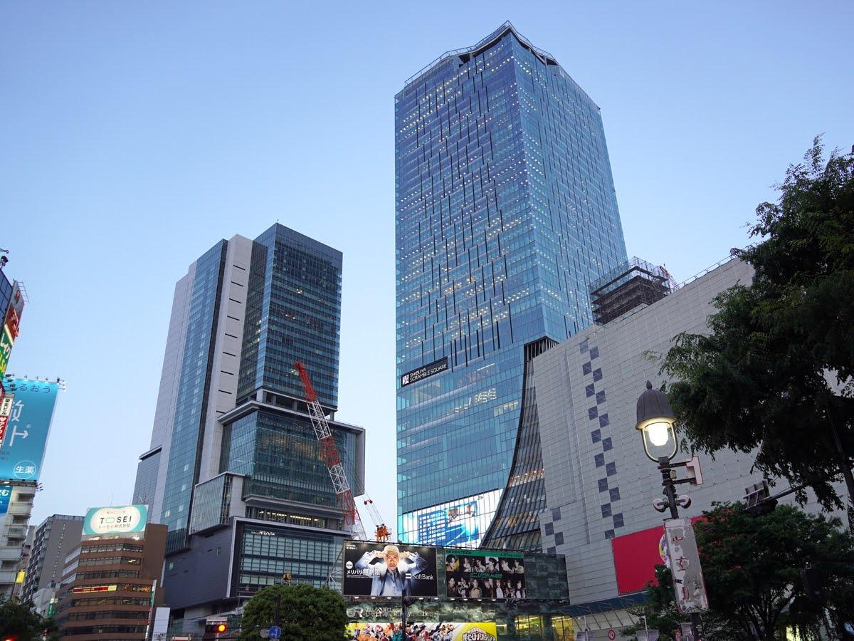 渋谷スクランブルスクエア(右から2番目の建物)