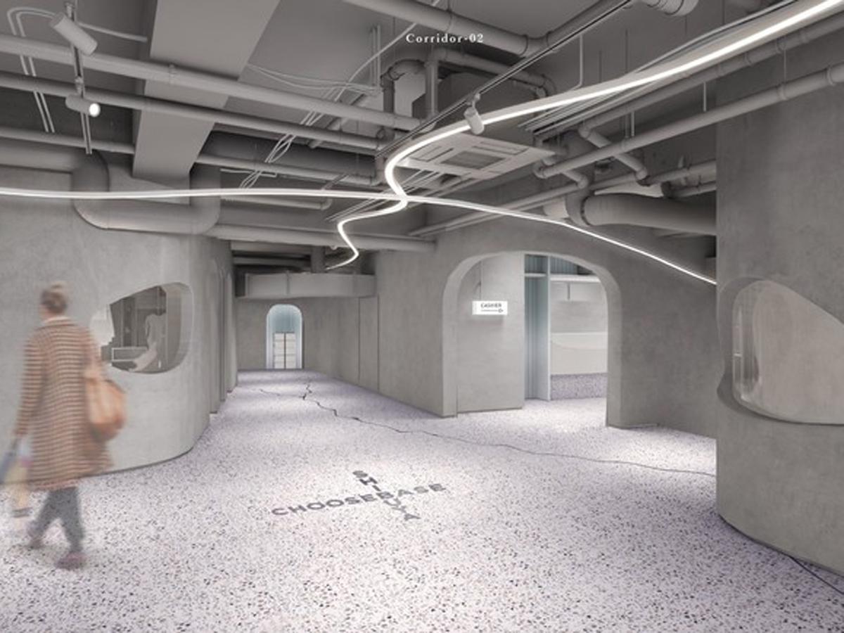 没入感のある空間に仕上げる「CHOOSEBASE SHIBUYA」のイメージ