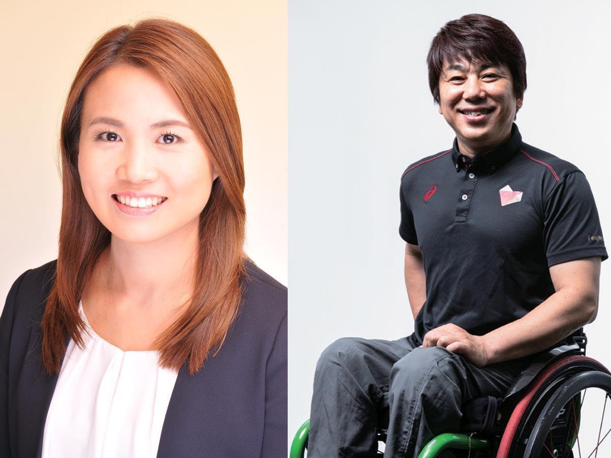 ゲスト出演する(左から)平野早矢香さん、根木慎志さん