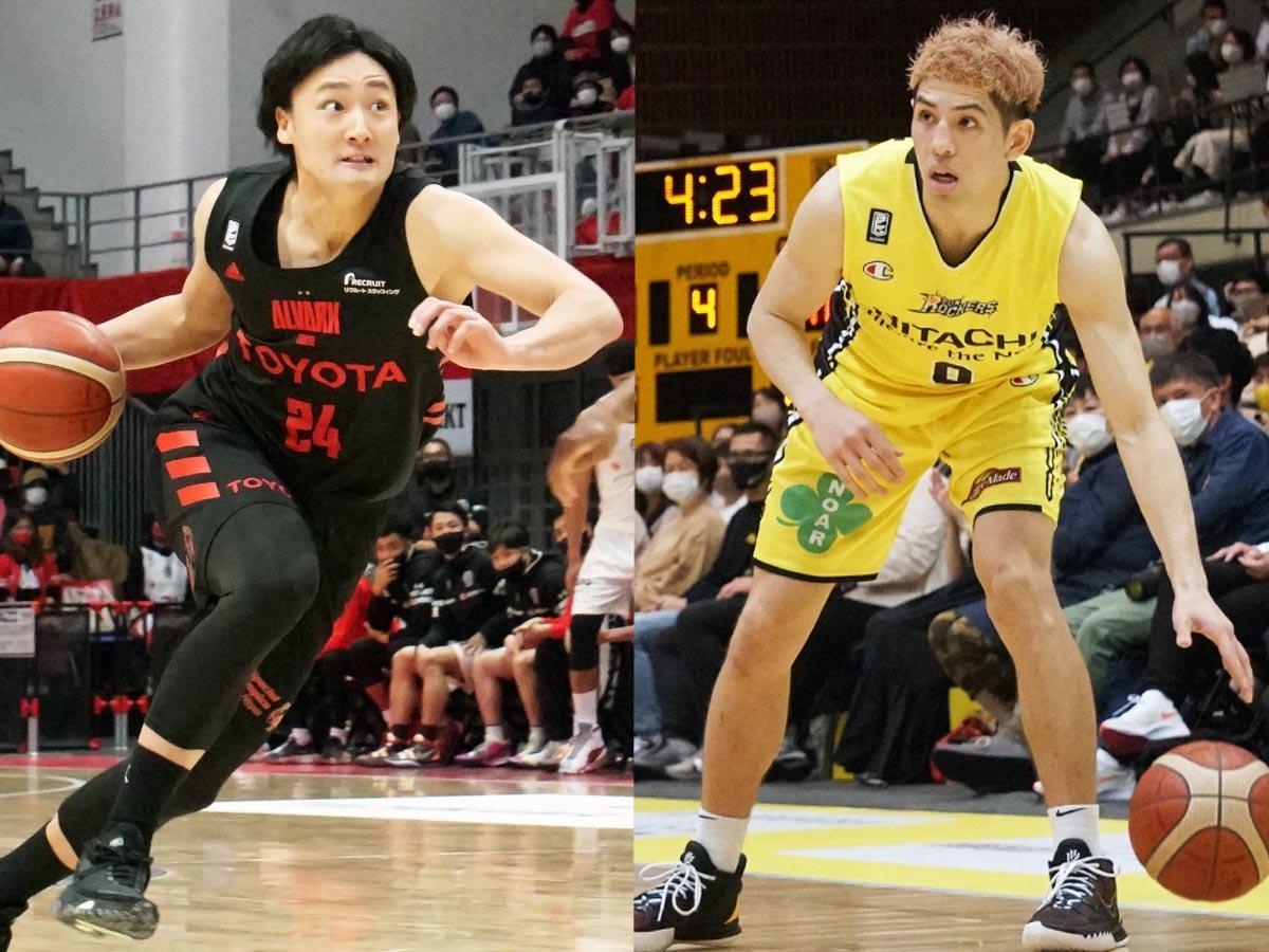 (左から)代表に内定した田中大貴選手とベンドラメ礼生選手