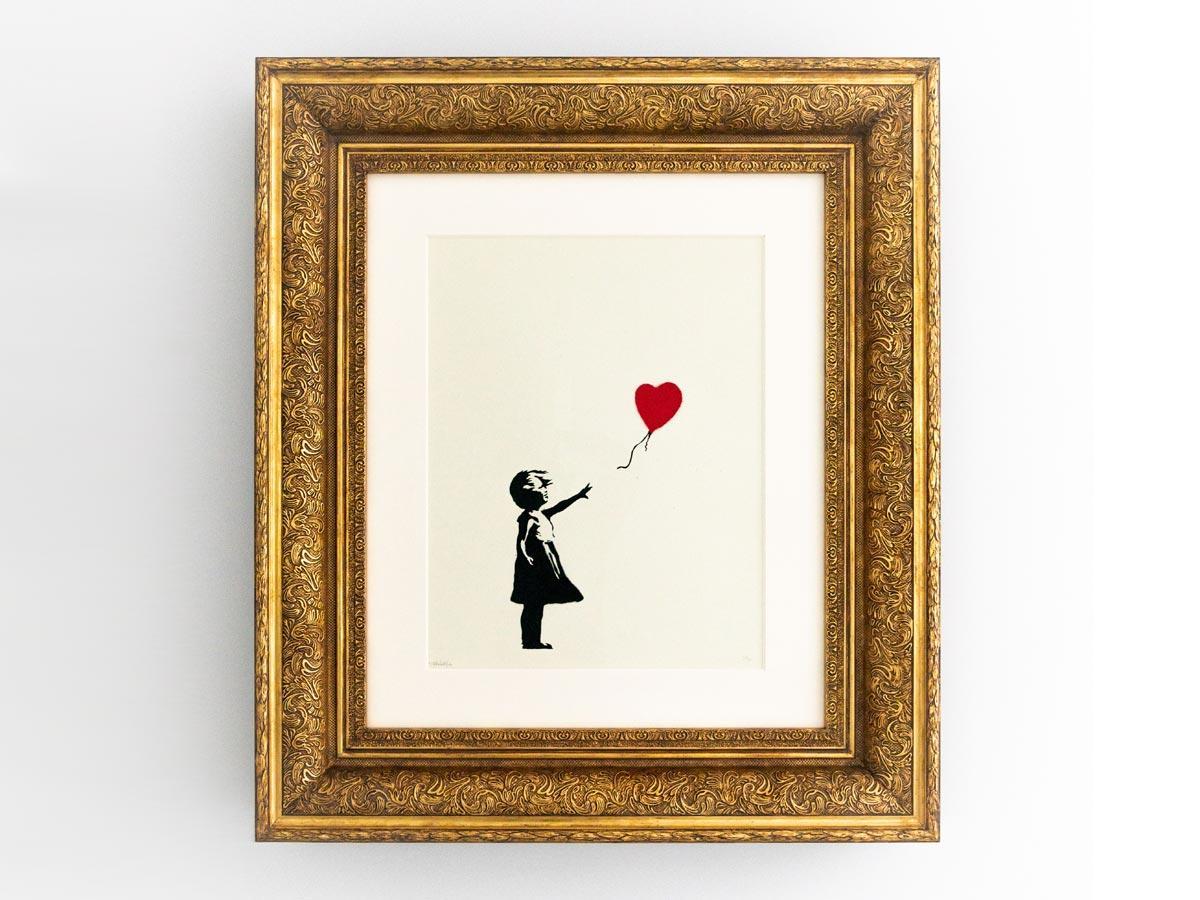 第1弾で展示するバンクシーさんの「風船と少女」