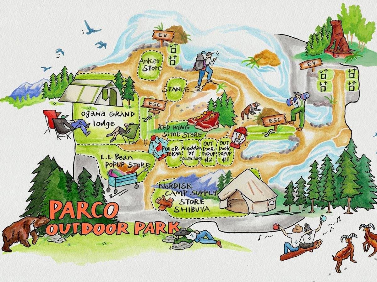 「PARCO OUTDOOR PARK」のフロアマップイメージ