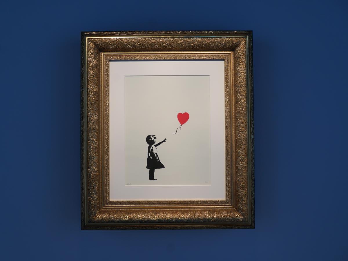 オープニングに展示する「風船と少女(Girl with Balloon)」