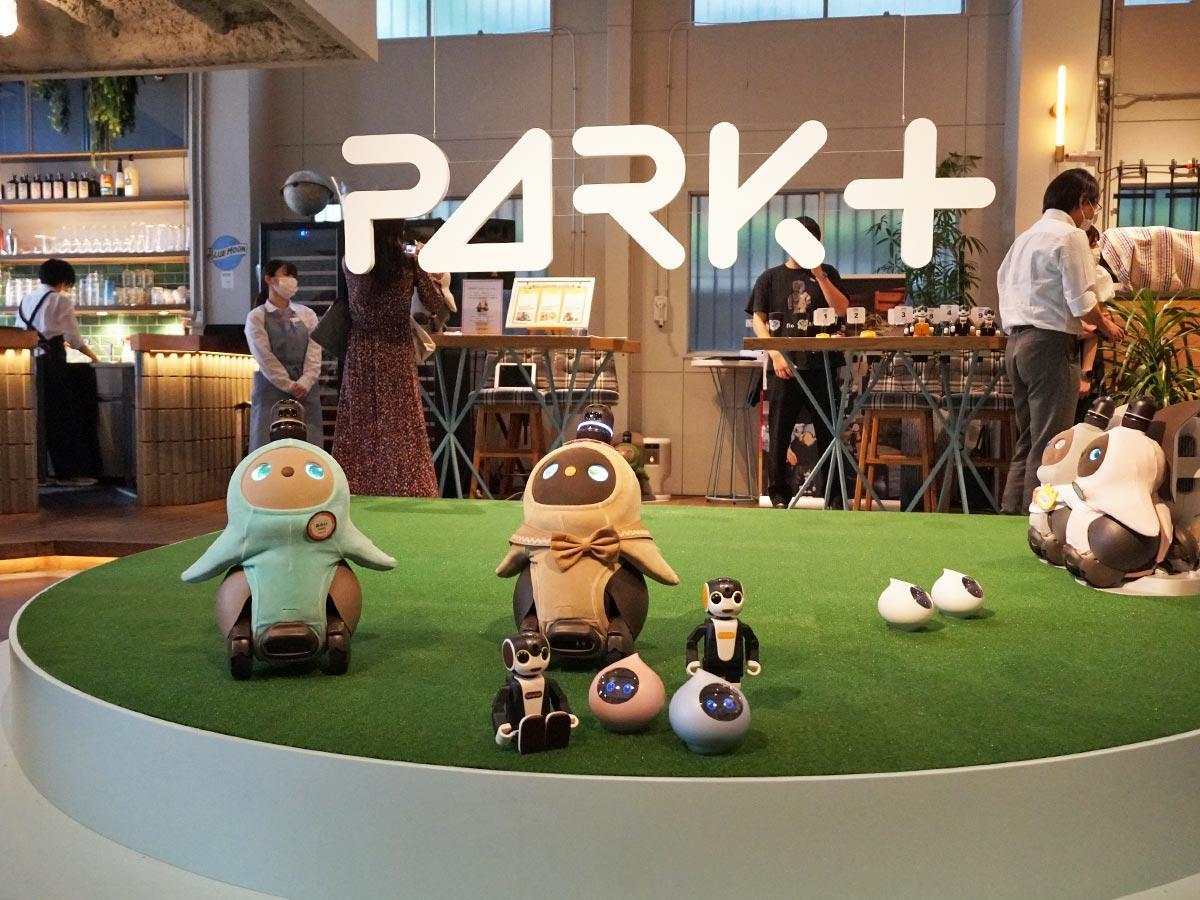 ロボットを「遊ばせる」ことができるエリアを用意する店内