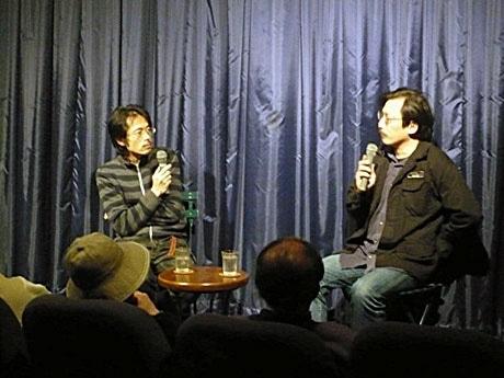 左:七里監督、右:坂手洋二さん