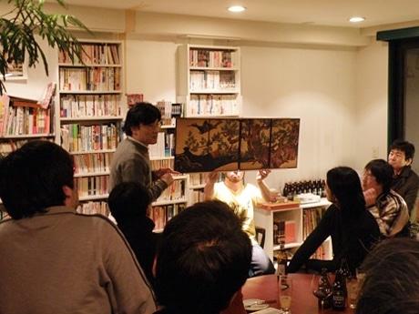 小林泰三さんのトークショー「日本美術を笑いながら見る」(1月15日開催)の様子