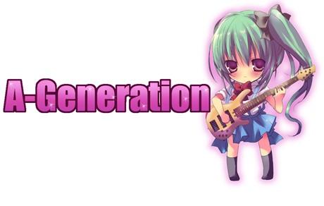 「秋葉開放計画 第零計画『A-Generation(エー・ジェネレーション)』のロゴ