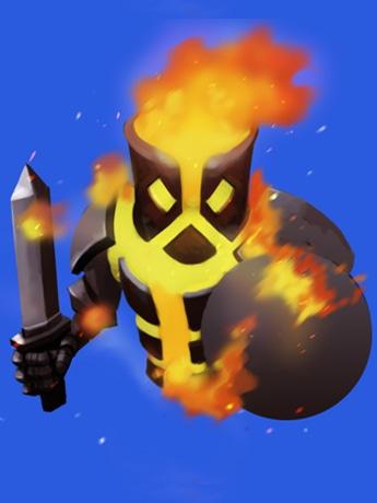 「まちモン」で配布されるカードに描かれたモンスター(火の属性)