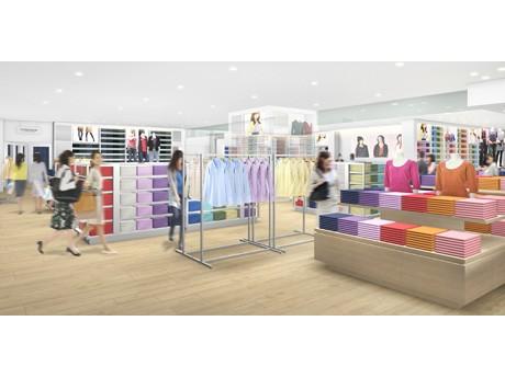 移転オープンする「ユニクロ下北沢店」の店内イメージ