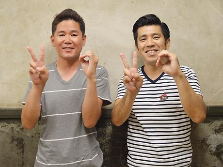 「自分たちがおもしろいと思ったネタをやります」と意気込むガレッジセールの川田さん(左)とゴリさん
