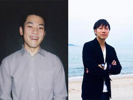 当日登壇する杉浦太一さん(左)とカズワタベさん
