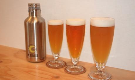 ビールは3種類のサイズで提供