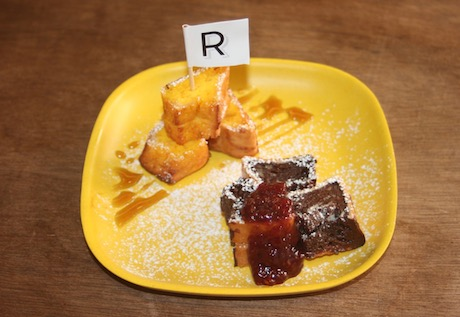看板メニューの揚げフレンチトースト