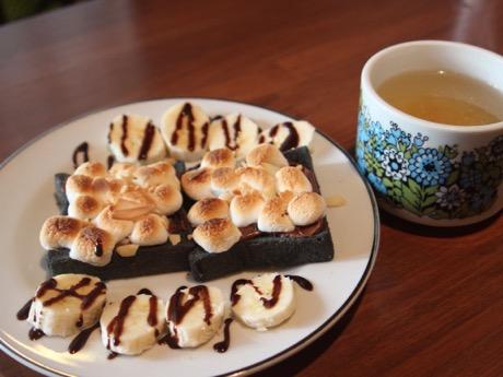 人気メニューの「チョコマシュマロトースト」