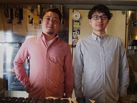 左から、店長の中野貴仁さんと社員の白石達磨さん