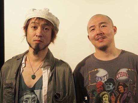 左から、ジャズフラミンゴのしゅんすけフリーローダーさん、奥田庸介監督