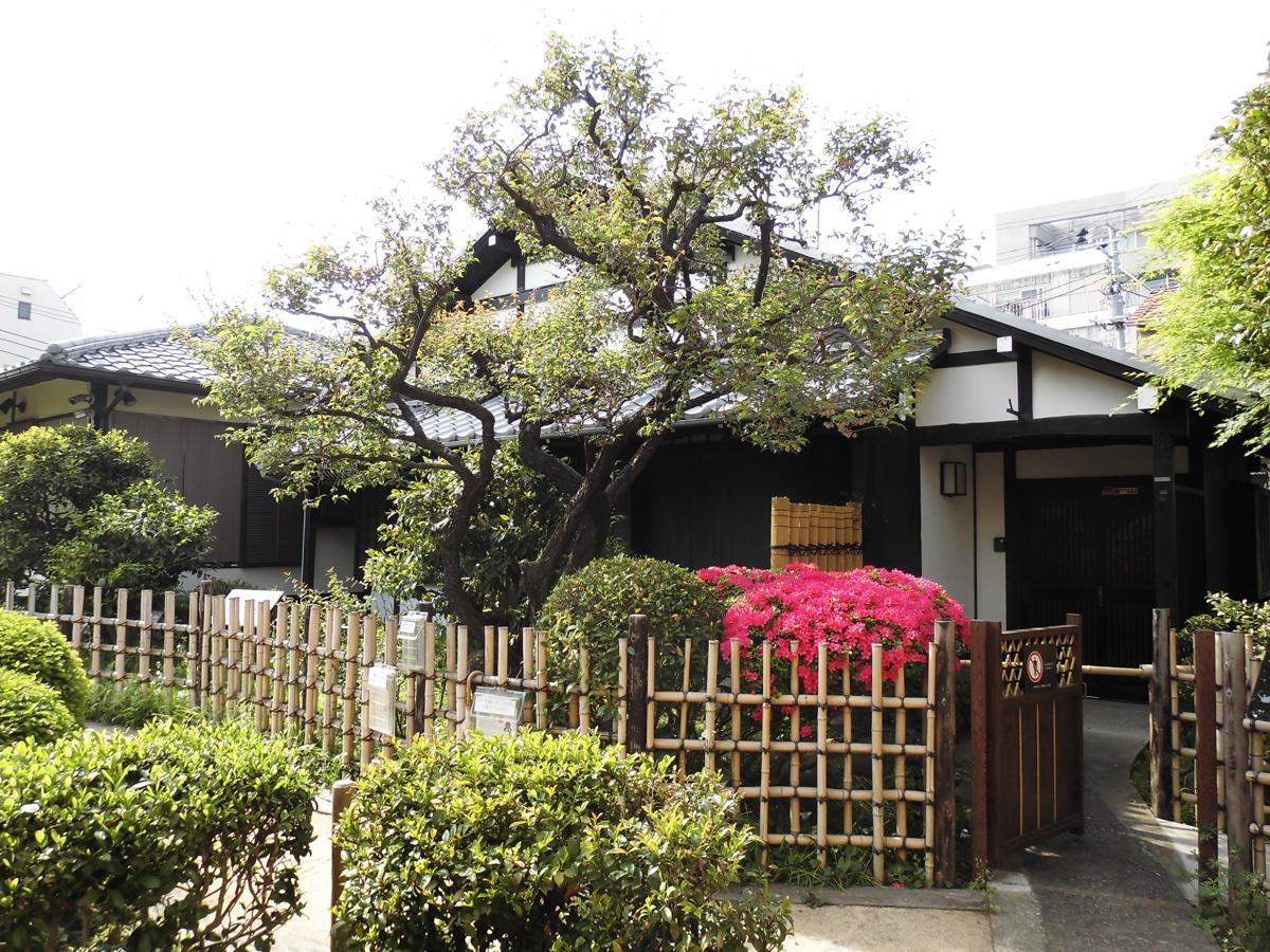 植樹と製茶体験の会場となる旧柳澤邸