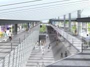 新駅舎の玄関口となる「東口」