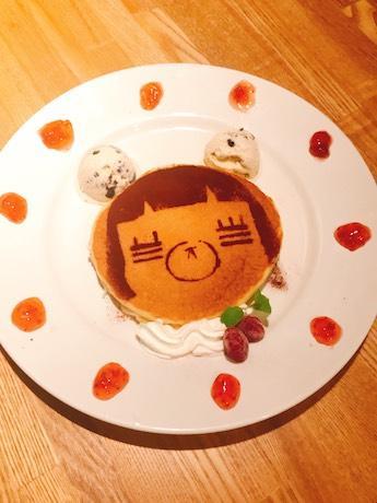 コレサワさんのビジュアルキャラクター・れ子ちゃんをかたどった「れ子ちゃんパンケーキ」