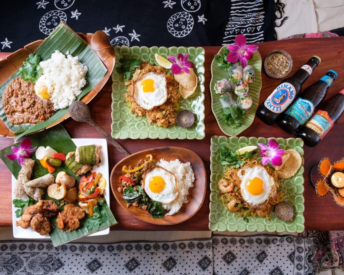 アジア各地から取り寄せた素材を使ったエスニック料理