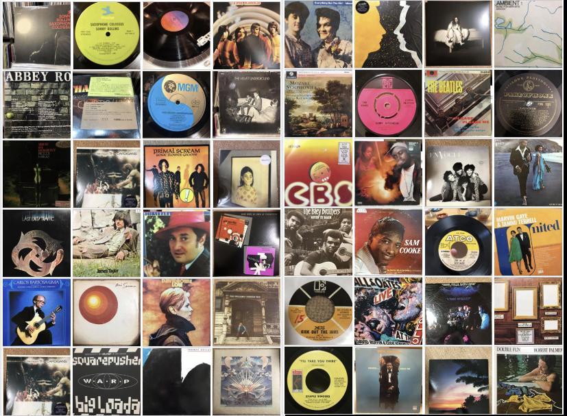過去にかかったレコードのごく一部