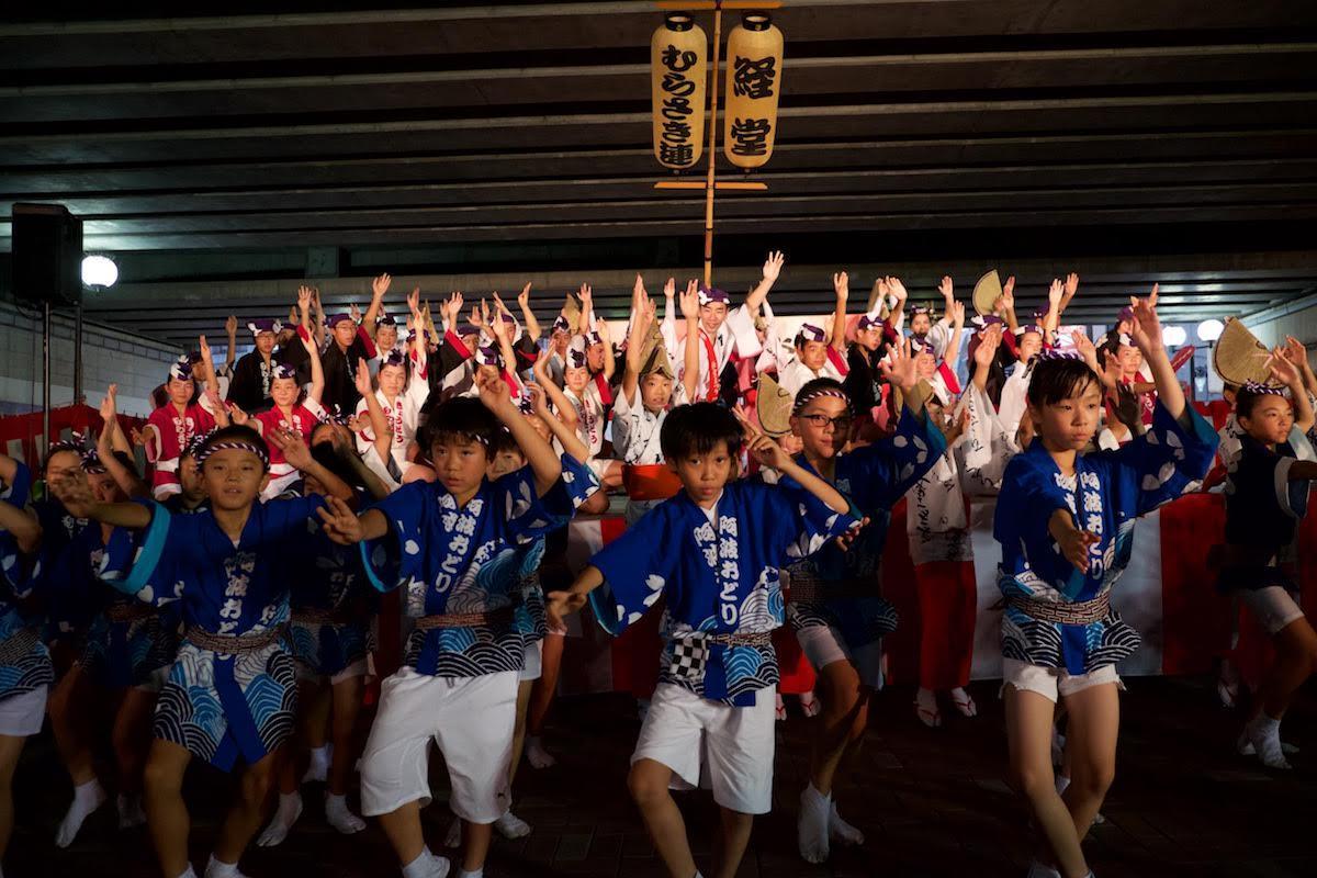地元の阿波踊り連「経堂むらさき連」