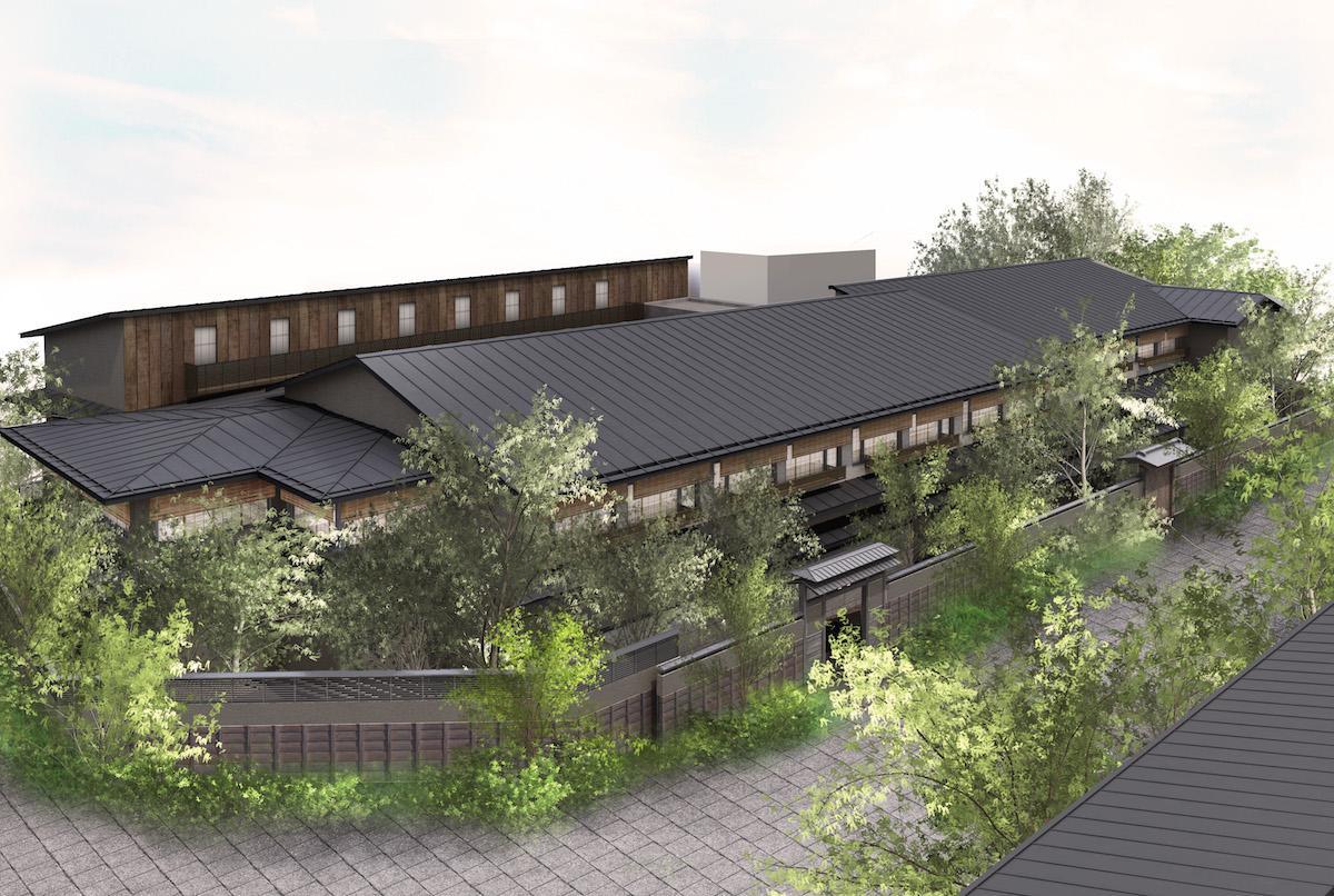 2020年9月に開業予定の温泉旅館のイメージ