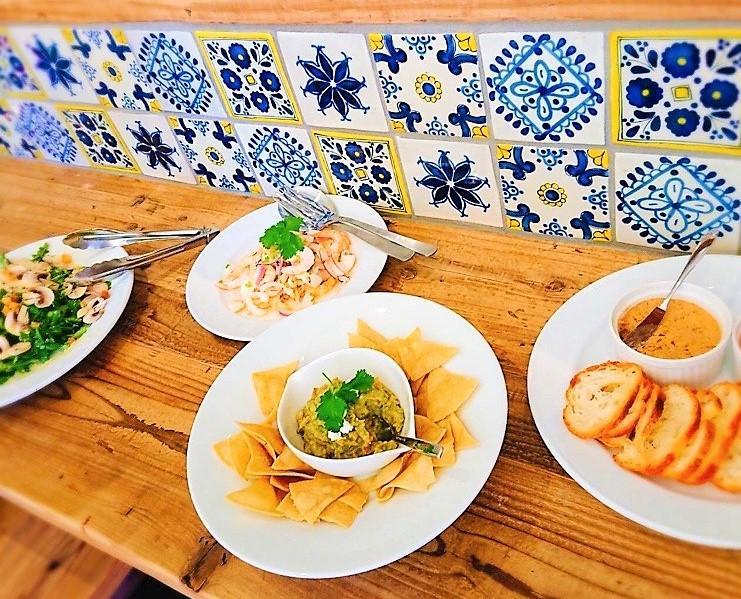 「Peltre y Barro」で提供するメキシコ料理